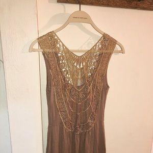 Just Ginger Lace Back A-LineSummer Dress